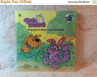 SUMMER SALE 1988 Purr-Tenders  - Hop-purr hops into Trouble Childrens Picture book Golden Books