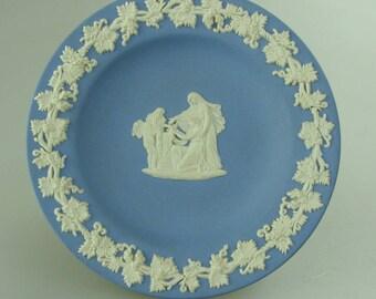 Vintage Wedgewood Blue Jasperware Trinket Dish