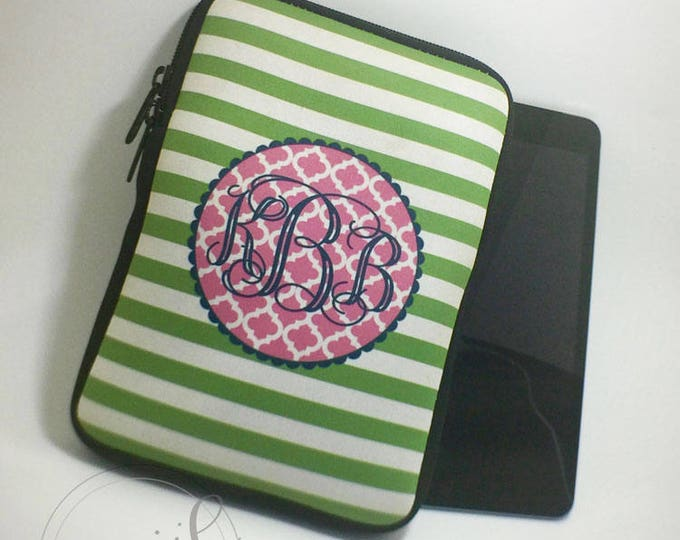 Monogram Tablet or iPad Case