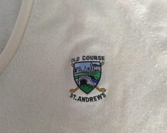 White wool Old Course St Andrews Sweater