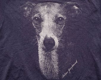 Italian Greyhound T-shirt, I.G. Iggy Dog Lover, Vintage 90s, 1993 Canine Graphic Tee, Puppy Photo, Jerzees Heavyweight