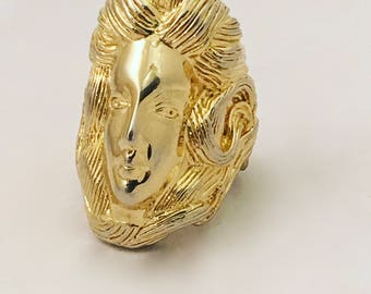 Pauline Rader Vintage Jewelry Face Ring