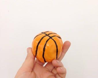 Handmade Ceramic Basketball Sculpture
