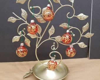 Set of 6 Vintage Christmas Ornaments