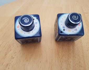 Vintage Dreidel Salt and Pepper Shakers