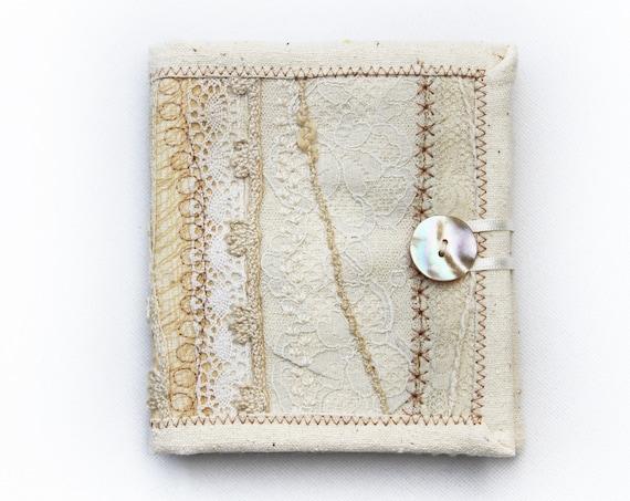 Ivory Needle Book • Neutral Embroidery needlework case • Embroidered Cream Needle Books • Sewing organisation needle case, white needlebook