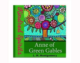 Anne of Green Gables Book Lover Ceramic Art Tile by artist Heather Galler L. M. Montgomery Canadian Author