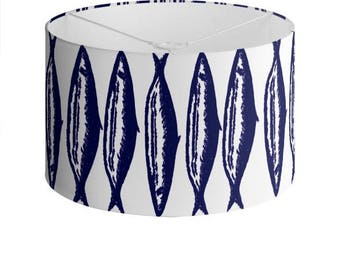 Nautical Sardine Lamp Shade Large Print - 40 cm