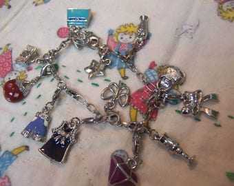 fun lots of charms bracelet