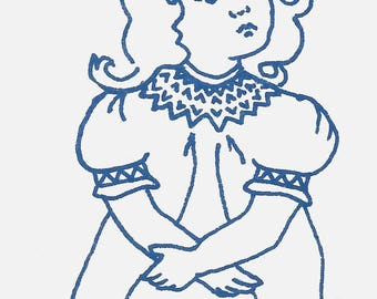 Little Elegance Round Yoke Dress Vintage Heirloom Smocking Size 7  Sewing Pattern