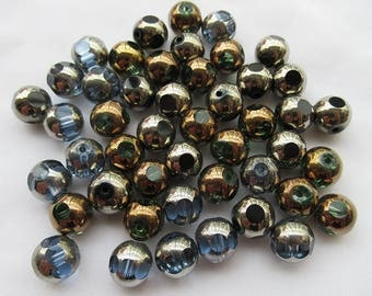 SALE Faceted Glass Beads 10mm Mixed Lot s024