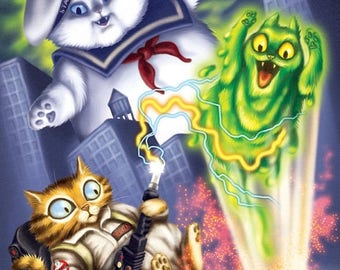 SALE Ghostbuster Cats - Venkcat, Stay Puft Marshmallow Cat and Slimer Kitty
