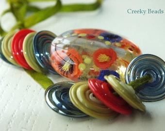 handmade lampwork focal bead u0027wild creeky beads sra