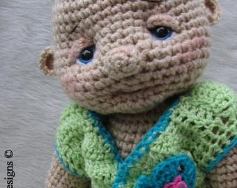 Summer Sale Crochet Pattern Huggable Lifesize Baby Doll by Teri Crews instant download PDF format Crochet Toy Pattern
