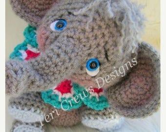 Summer Sale Simply Cute Elephant Crochet Pattern by Teri Crews Instant Download Digital PDF