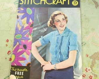 Vintage Stitchcraft 1930s knitting book catalog pattern  ladies 30s 40s 1937 issue july 1937 no. 59 home journal