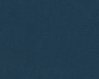 Midnight Navy Blue Yarn Dyed Linen, Essex Linen Blend Collection By Robert Kaufman, 1 Yard