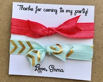 Elastic Hair Ties - Party Favors - birthday party favors - bachelorette party favors