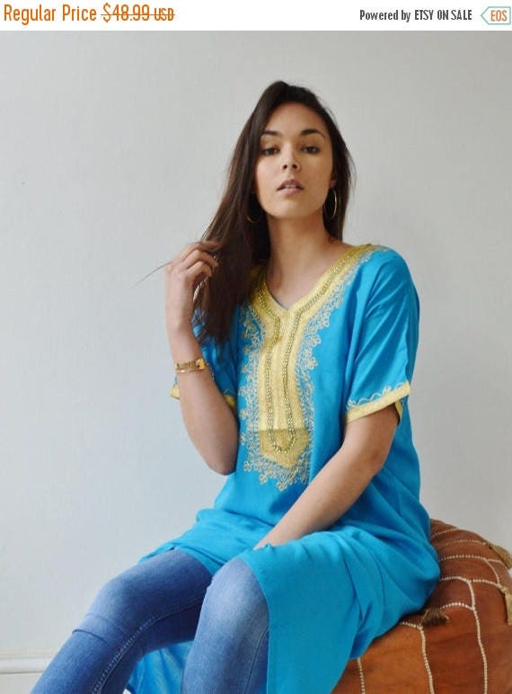 Autumn Dress 20% OFF/ Spring Turquoise Resort Caftan Kaftan Fez-Ramadan, Eid, resortwear,beach coverup,loungewear, maxi dresses, birthdays,