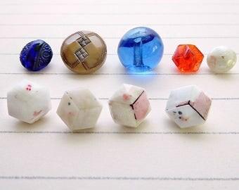 Assorted Glass Shank Buttons