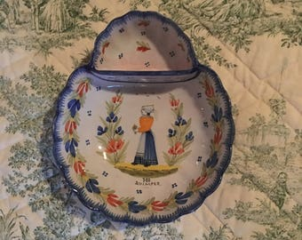 French Quimper Faience Signed ......