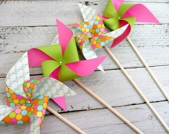 Birthday Decorations Paper Pinwheel Party Favors Birthday Party Decorations Birthday Rainbow Favors Clouds Birthday Decor Table Centerpiece