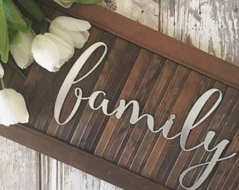 SALE || family ||  Metal Letters || Metal Sign || Home Decor || Rusty | Galvanized | Black