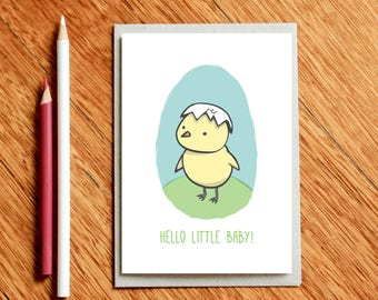 Hatch - New Baby Card, New Baby Gift, Baby Shower Gift, Baby Shower Card, Newborn Card, Newborn Gift, Baby Boy Card, Baby Congrats, New Mum