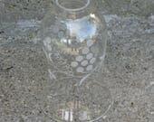 glass hurricane shade grape design candle shade hand blown