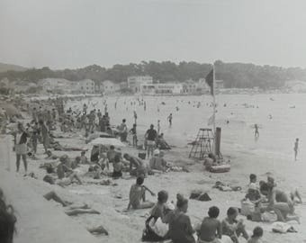 1970's French Summer Photo - Beach at Les Sablettes, Toulon
