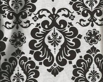 Black and White Damask Fabric (2 3/4 yards)