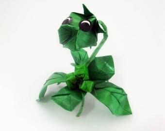 FIGURINE origami pea shooter figurine