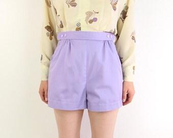 VINTAGE Shorts Lavender Purple 1980s Sporty Athletic