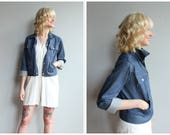 1970s Jacket // Towncraft Penny's Denim Jacket // vintage 70s denim jacket