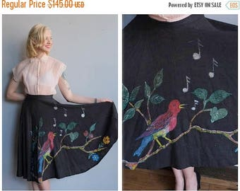 20% Off Sale // 1950s Skirt // Rockin' Robin Circle Skirt // vintage 50s skirt