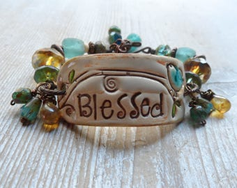 Blessed Bracelet Cuff Artisan Made Boho Bracelet Be A Blessing