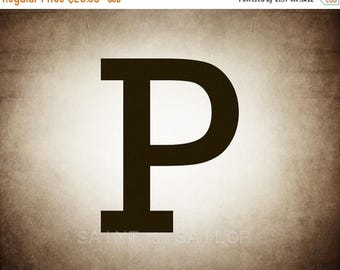 FLASH SALE til MIDNIGHT Letter P in 4 color choices, Monogramed Photo Print or Canvas kids Wall art