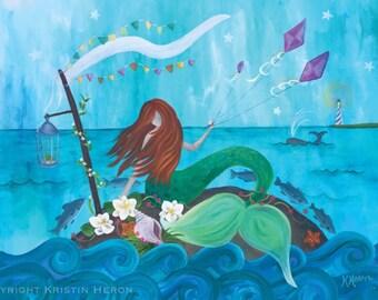 Seaside Soiree Mermaid Print - Limited Edition