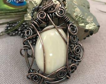 White Agate in Copper