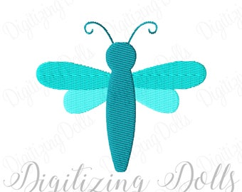 Dragonfly Solid Fill Machine Embroidery Design 1x1 2x2 3x3 INSTANT DOWNLOAD