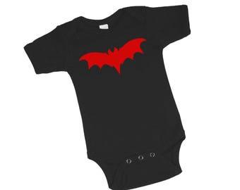 Franken Bat Black Baby Bodysuit