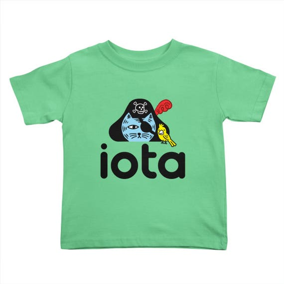 iOTA Pirate Kitty - Toddler T-shirt - Grass - by Oliver Lake - iOTA iLLUSTRATION