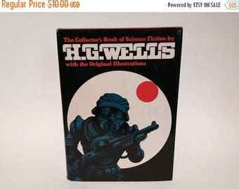 SUMMER BLOWOUT Vintage Sci Fi Book The Collector's Book of Science Fiction by H. G. Wells 1978 Hardcover Anthology Illustrated