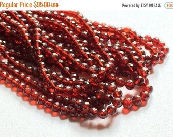 ON SALE 55% Garnet Beads, Garnet Faceted Rondelle Beads, Red Garnet Beads, 4-8mm Beads, 16 Inch Strand, 80 Pieces