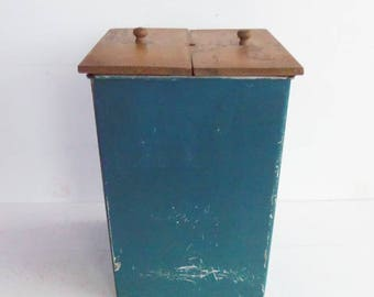 Blue Metal Container, Butter Churn Box, Daisy Butter Churn, Antique Churn, Vintage Butter Churn