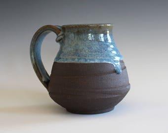 Large Coffee Mug, 18 oz, unique coffee mug, handmade ceramic cup, hand thrown mug, stoneware mug, wheel thrown pottery mug, ceramics