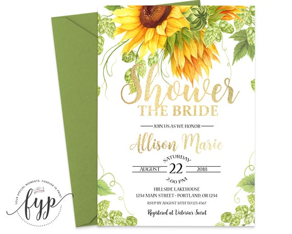 Sunflower bridal shower invitation rustic sunflower bridal shower il570xn filmwisefo