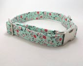 Turquoise Dog Collar · Floral Dog Collar.· Girl Dog Collar · Boy Dog Collar · Flower Dog Collar · Mint Green Collar · Green Dog Collar