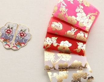 Korean Traditional Clothes Beaten Gold Sheer Hanbok Fabric By the yard (width 44 inches) 67188