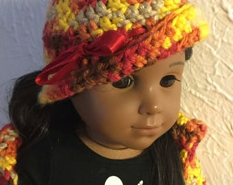 Fall leaf cloche hat for 18inch dolls